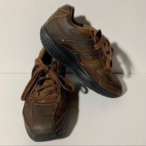 Sketchers shapeups leather brown men's size 10